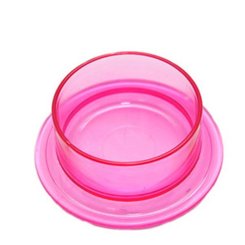 투명 핑크 급식기
